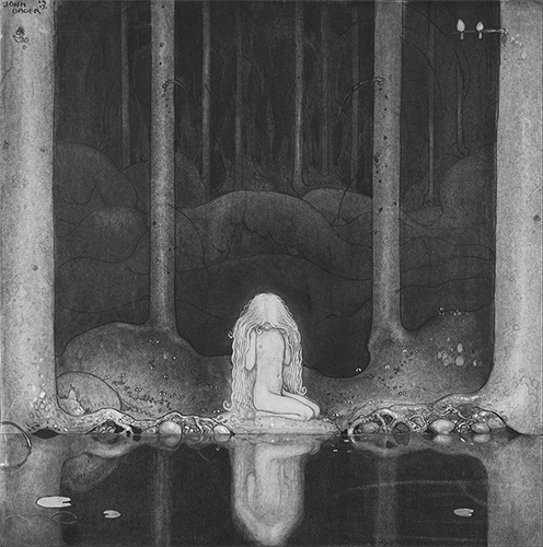 John Bauer: 'Tuvstarr, the princess' (1913)