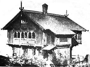 Carl Curman's Old Norse  inspiring summer house (1880)